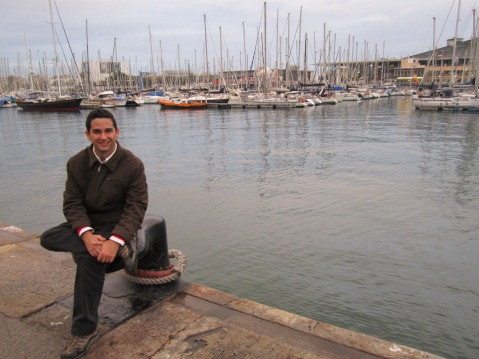 Eu, na Rambla de Mar